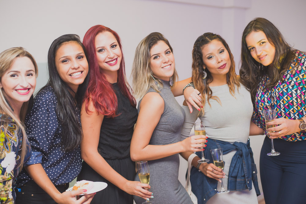 Event photography group portrait of beautiful women shot with Nikkor 50mm f 1.8 G