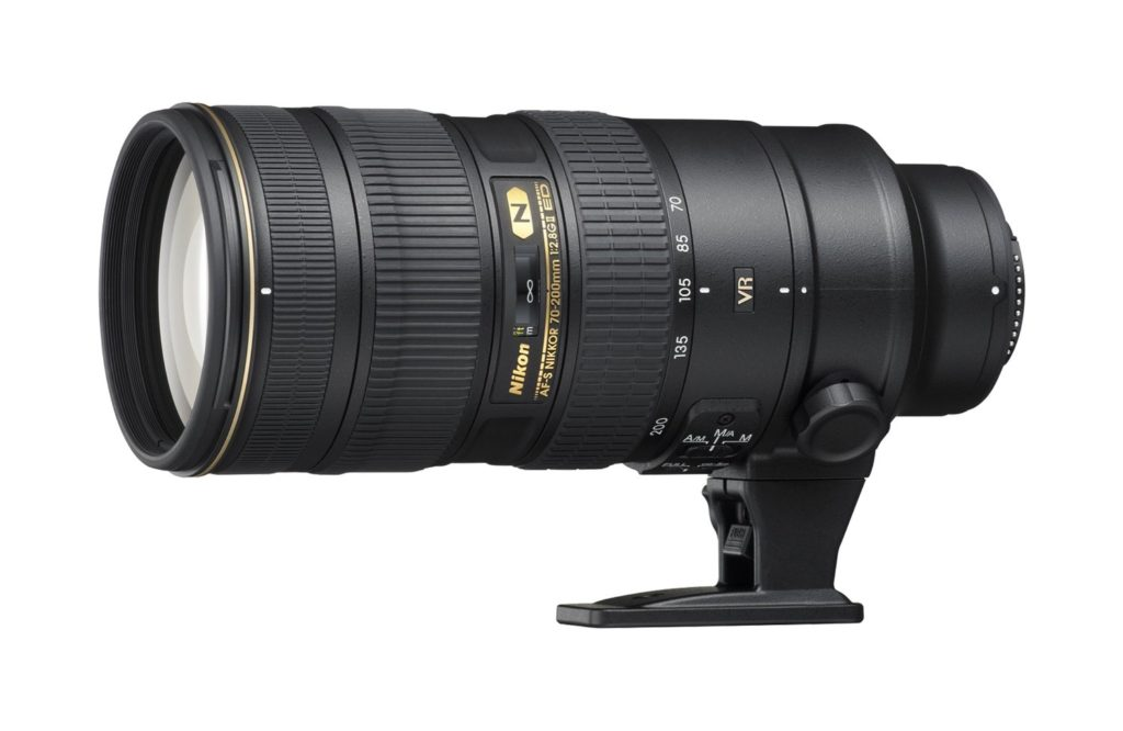 Product shot of the Nikon 70-200