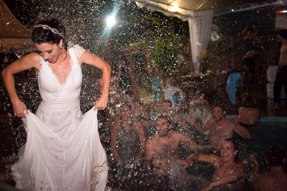 Crazy wedding moment captured with the Nikon 35mm f2D