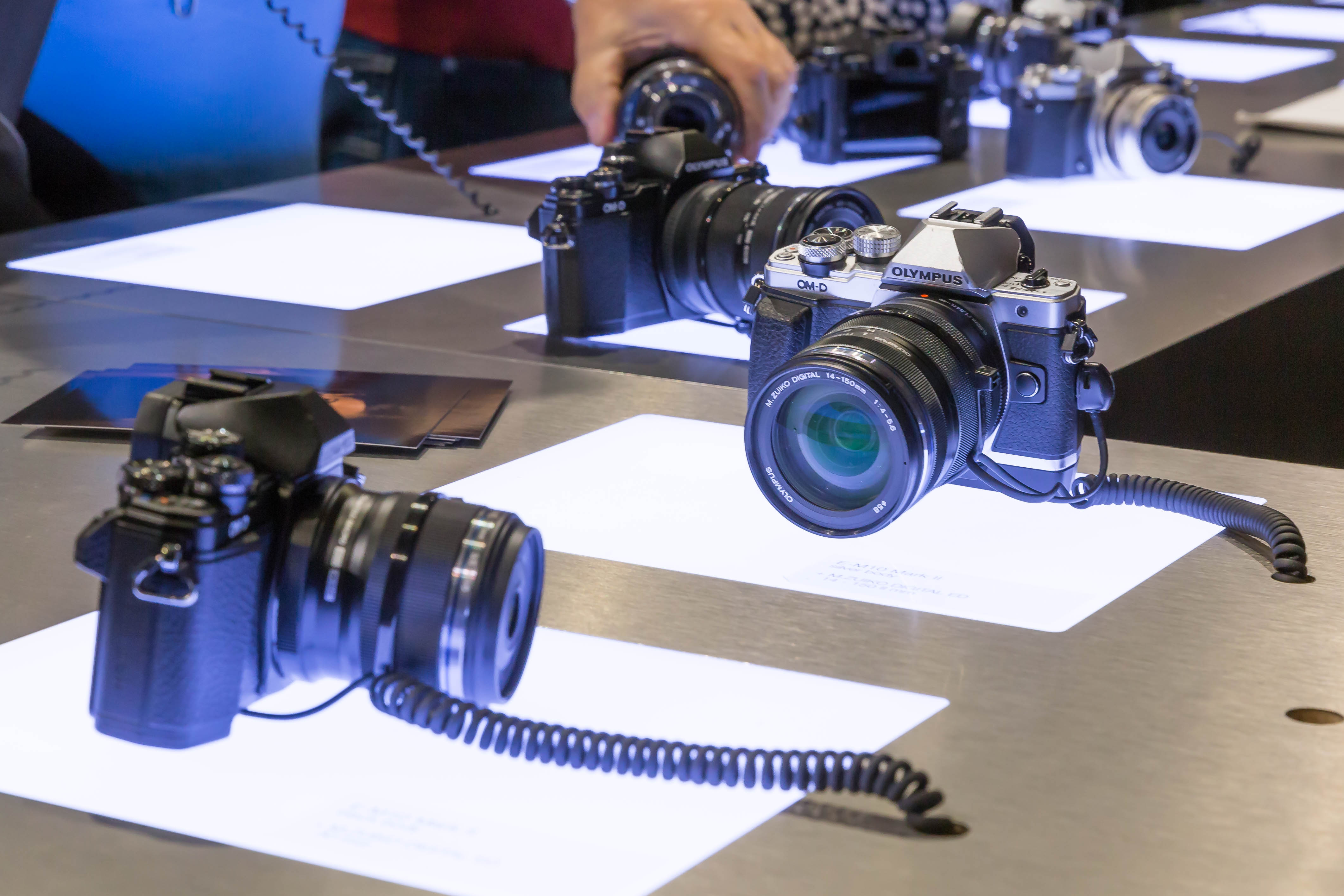 Image of Olympus cameras at Photokina