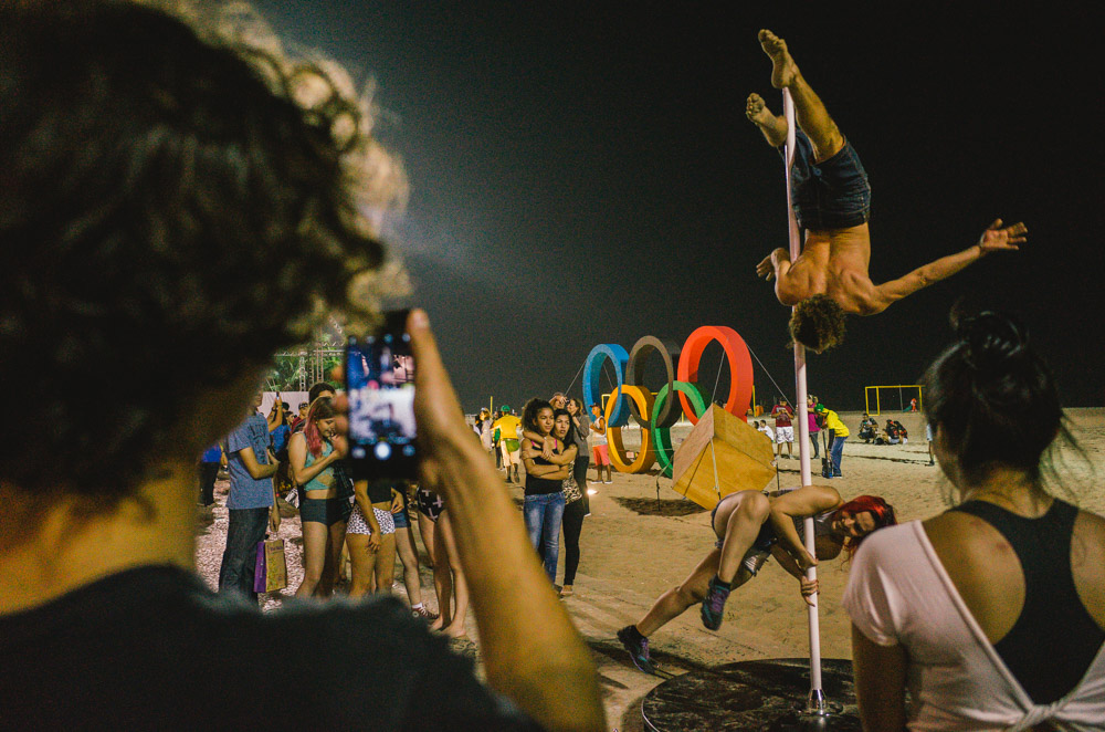 Image of people and performers performing something weird which was shot with the Ricoh GR 5 camera
