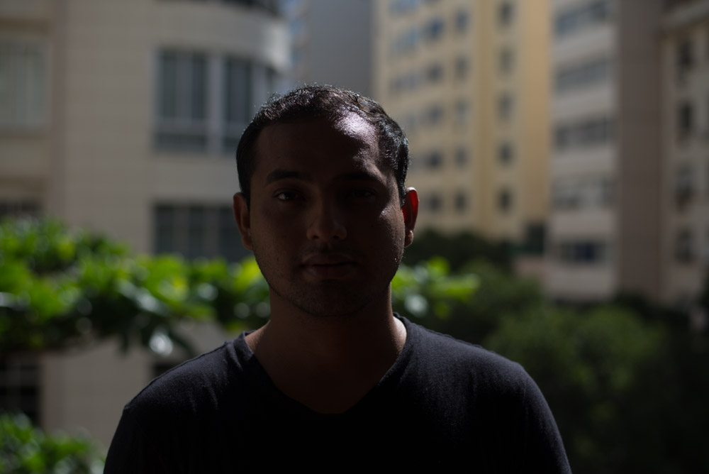 image example of an underexposed portrait because of using evaluative metering.
