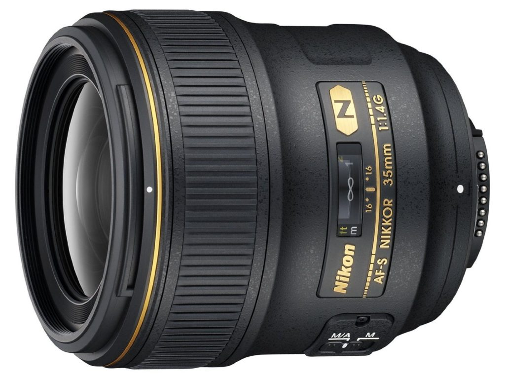 amazon product image of the best all round lens for nikon d750, the nikon 35mm f/1.4