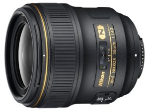 amazon product image of the nikon 35mm f/1.4 prime lens