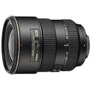 An Amazon product image of the DX NIKKOR 17-55mm f/2.8G