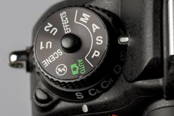 Camera Mode Dial Set to Shutter Priority