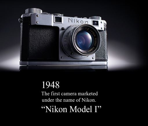 Picture of Nikon's first ever camera released from back in 1948