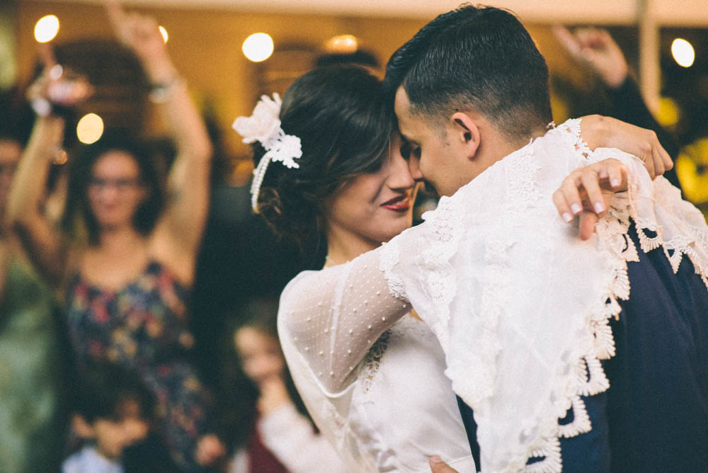 Image of wedding first dance with natural lighting