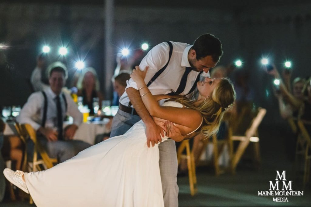 Example image showing what is wedding photojournalism of a bride and groom doing their first dance