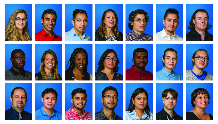 Example image of a directory of portrait images of employees of a company