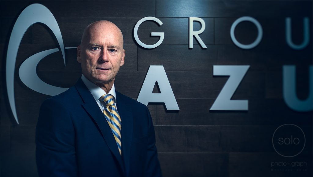 Image of a CEO of a company shot with creative portrait lighting