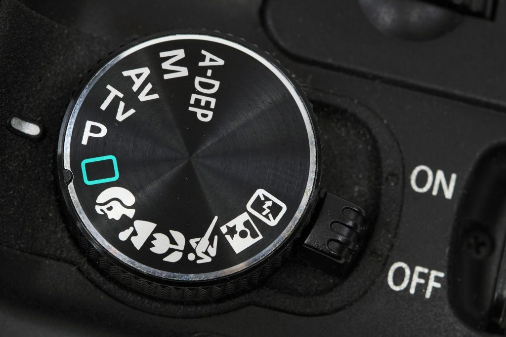 Image of a exposure mode dial