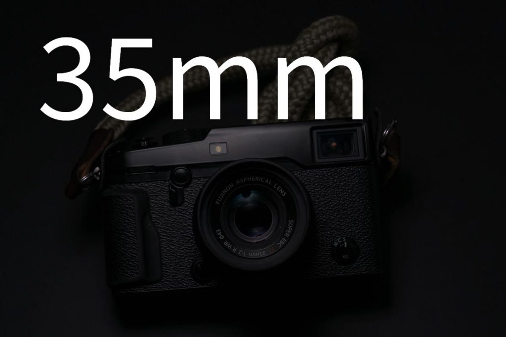 Image of a Fujifilm camera with a 35mm lens attached